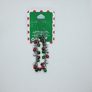 NWT Claire's Dangling Christmas Bells Earrings
